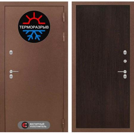 Дверь входная металлическая с терморазрывом Лабиринт Термо Магнит 05 - Венге (морозостойкие)