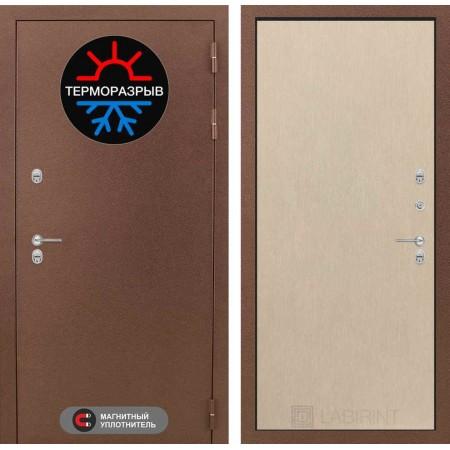 Входная дверь с терморазрывом Лабиринт Термо Магнит 05 - Венге светлый (морозостойкие)