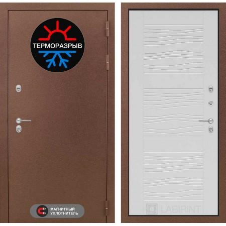 Стальная входная дверь с терморазрывом Лабиринт Термо Магнит 06 - Белое дерево (трехконтурные)