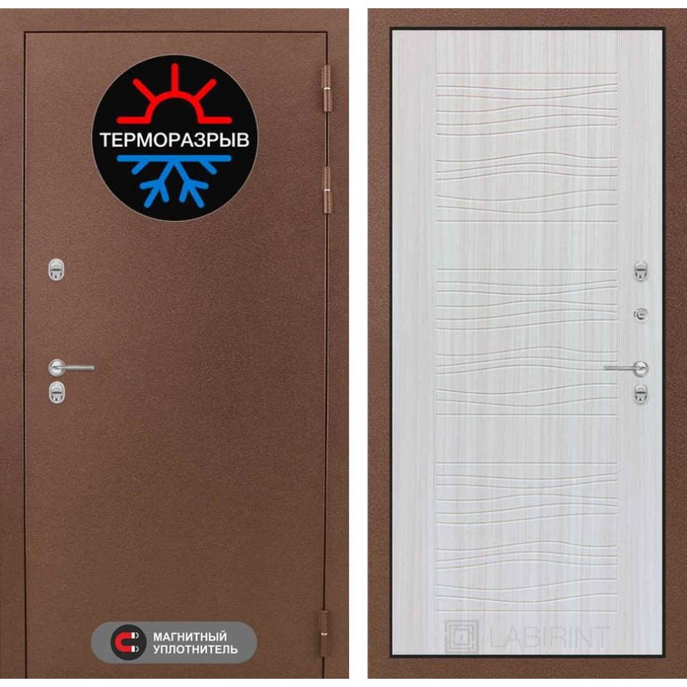 Входная дверь Лабиринт Термо Магнит 06 - Сандал белый (трехконтурные)