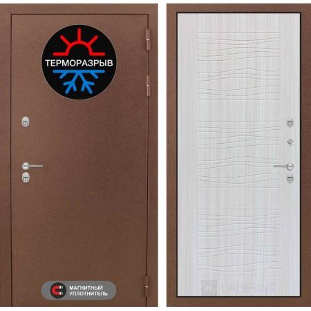 Уличная дверь с терморазрывом Лабиринт Термо Магнит 06 - Сандал белый (трехконтурные)