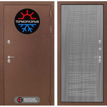 Входная дверь с терморазрывом для дома Лабиринт Термо Магнит 06  - Сандал серый (морозостойкие)