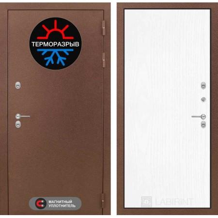 Стальная входная дверь с терморазрывом Лабиринт Термо Магнит 07 - Белое дерево