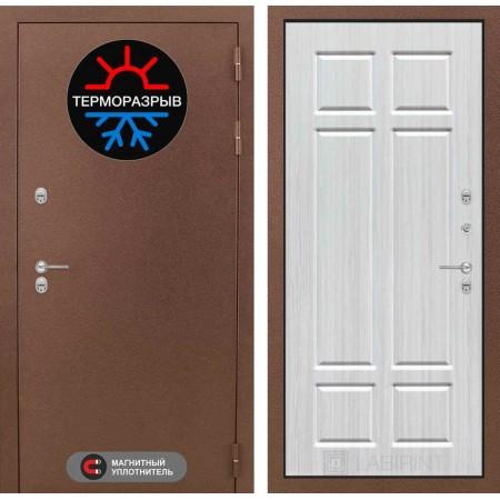 Входная дверь с терморазрывом для коттеджа Лабиринт Термо Магнит 08 - Кристалл вуд (утепленные)