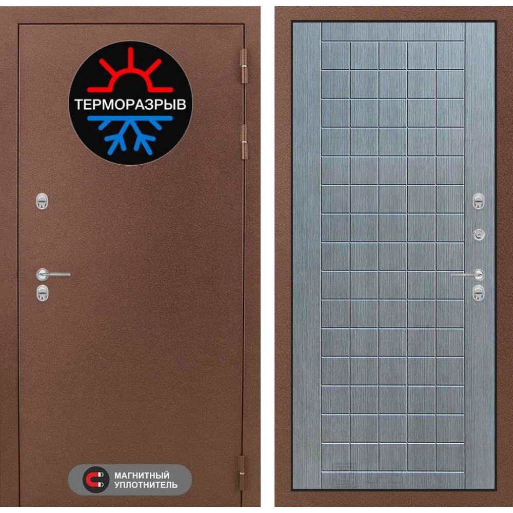 Входная дверь Лабиринт Термо Магнит 09 - Лен сильвер грей (сейфовые)