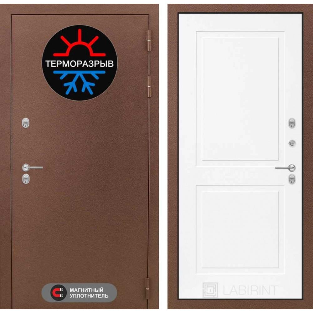 Входная дверь Лабиринт Термо Магнит 11 - Белый софт (с шумоизоляцией)