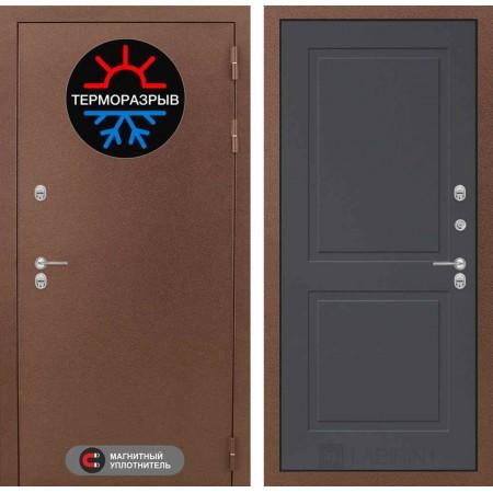 Входная дверь с терморазрывом для дома Лабиринт Термо Магнит 11 - Графит софт (морозостойкие)