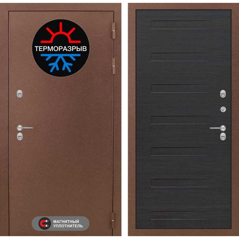 Входная дверь с терморазрывом для коттеджа Лабиринт Термо Магнит 14 - Эковенге (утепленные)