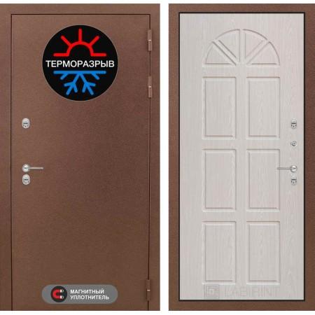 Входная дверь для дома с терморазрывом  Лабиринт Термо Магнит 15 - Алмон 25 (утепленные)