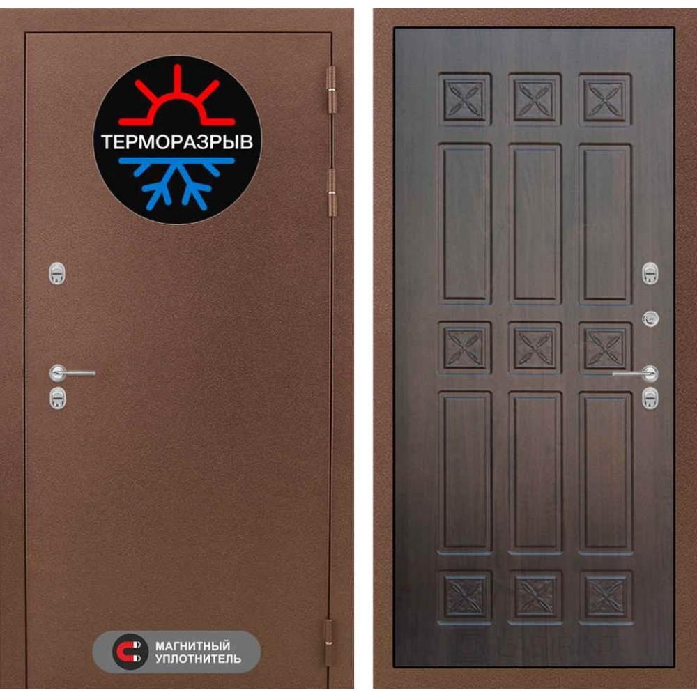 Входная дверь с терморазрывом для дома Лабиринт Термо Магнит 16 - Алмон 28 (морозостойкие )