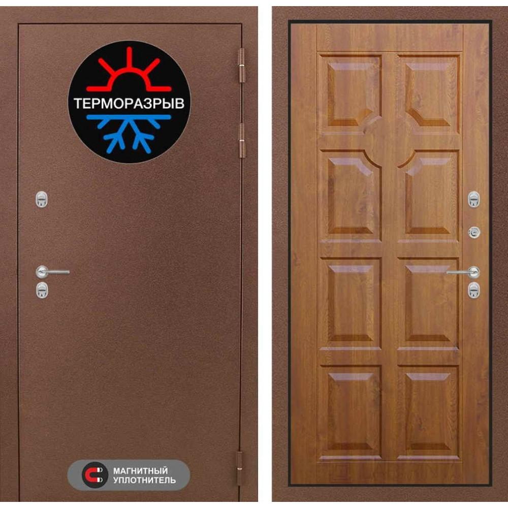 Входная дверь с терморазрывом для дома Лабиринт Термо Магнит 17 - Золотой дуб (морозостойкие )
