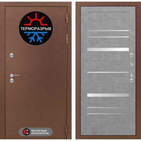 Входная дверь с терморазрывом для дома Лабиринт Термо Магнит 20 Бетон светлый (с терморазрывом)