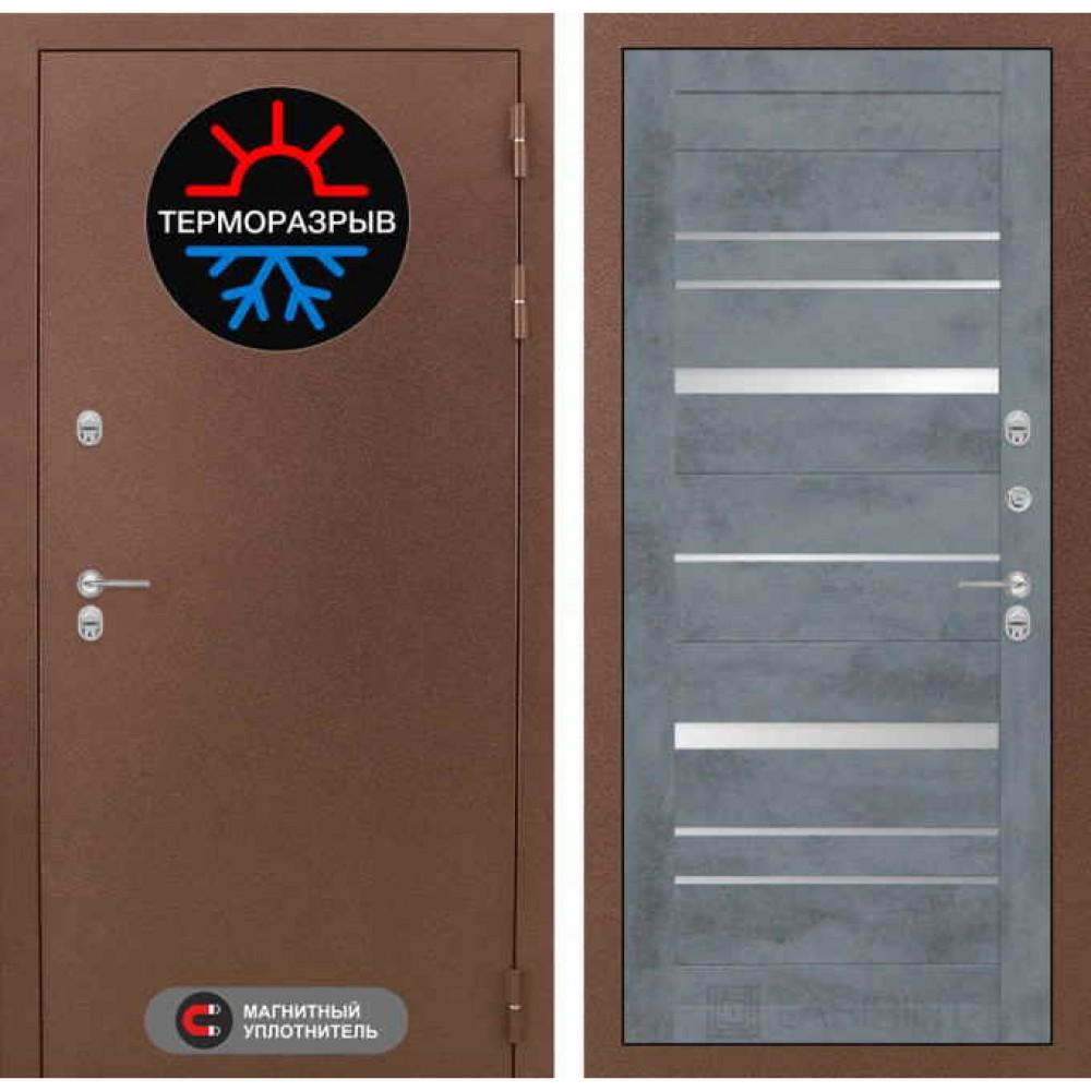 Входная дверь Лабиринт Термо Магнит 20 Бетон темный (морозостойкие)