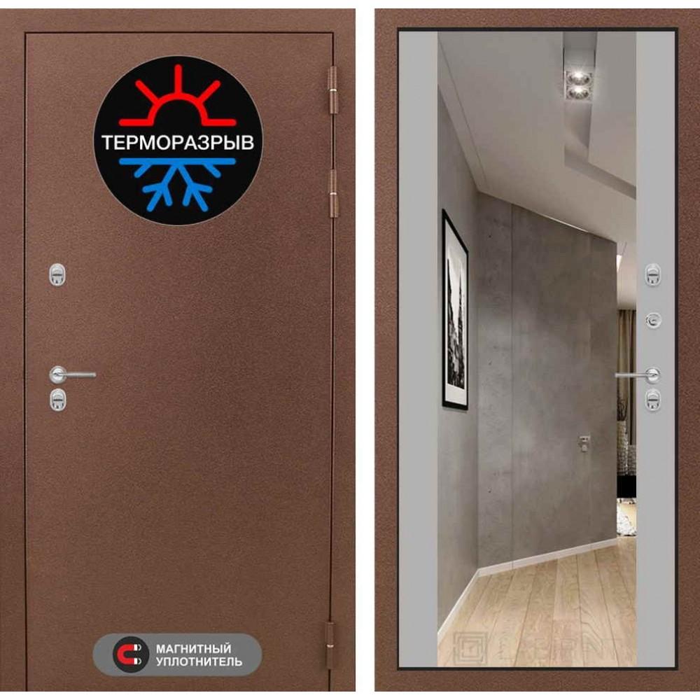 Входная дверь Лабиринт Термо Магнит с Зеркалом Максимум - Грей софт (морозостойкие )