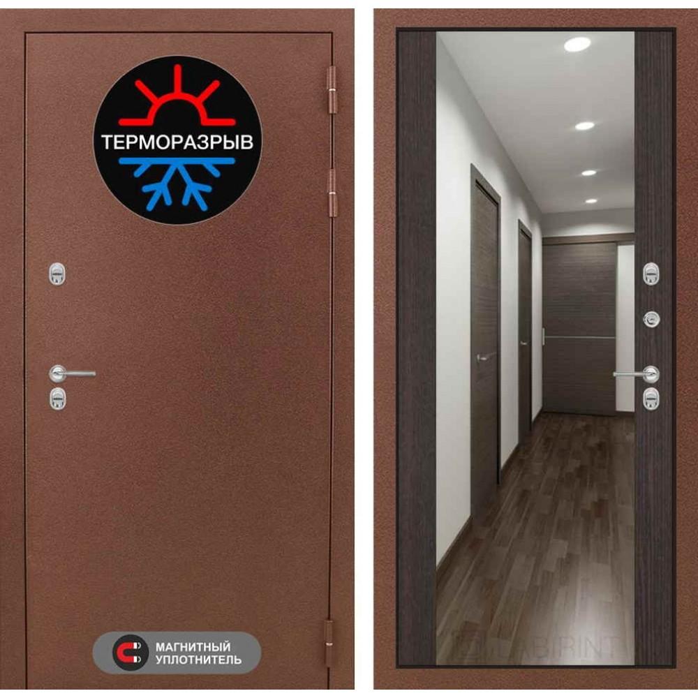 Входная дверь Лабиринт Термо Магнит с Зеркалом Максимум - Венге (морозостойкие )