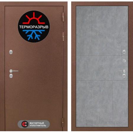 Входная дверь Лабиринт Термо Магнит 21  - Бетон светлый (морозостойкие)