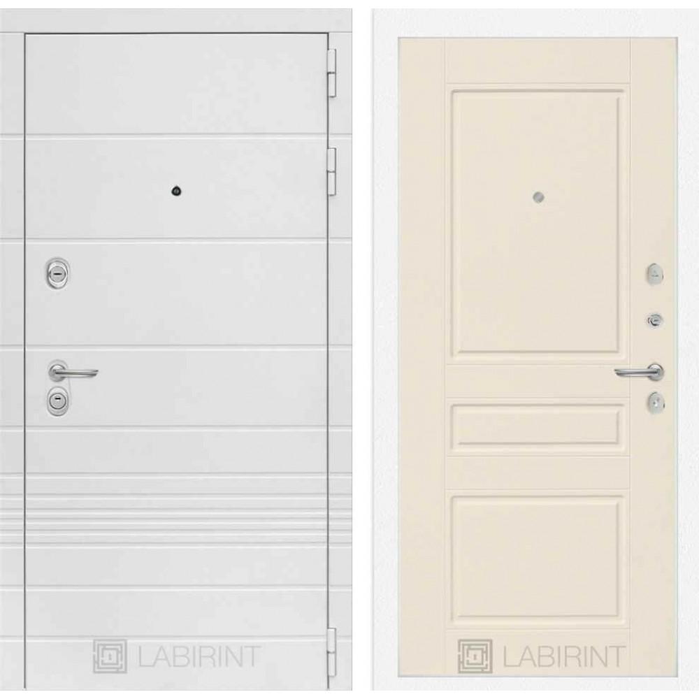 Входная дверь Лабиринт TRENDO 03 - Крем софт ( с шумоизоляцией)
