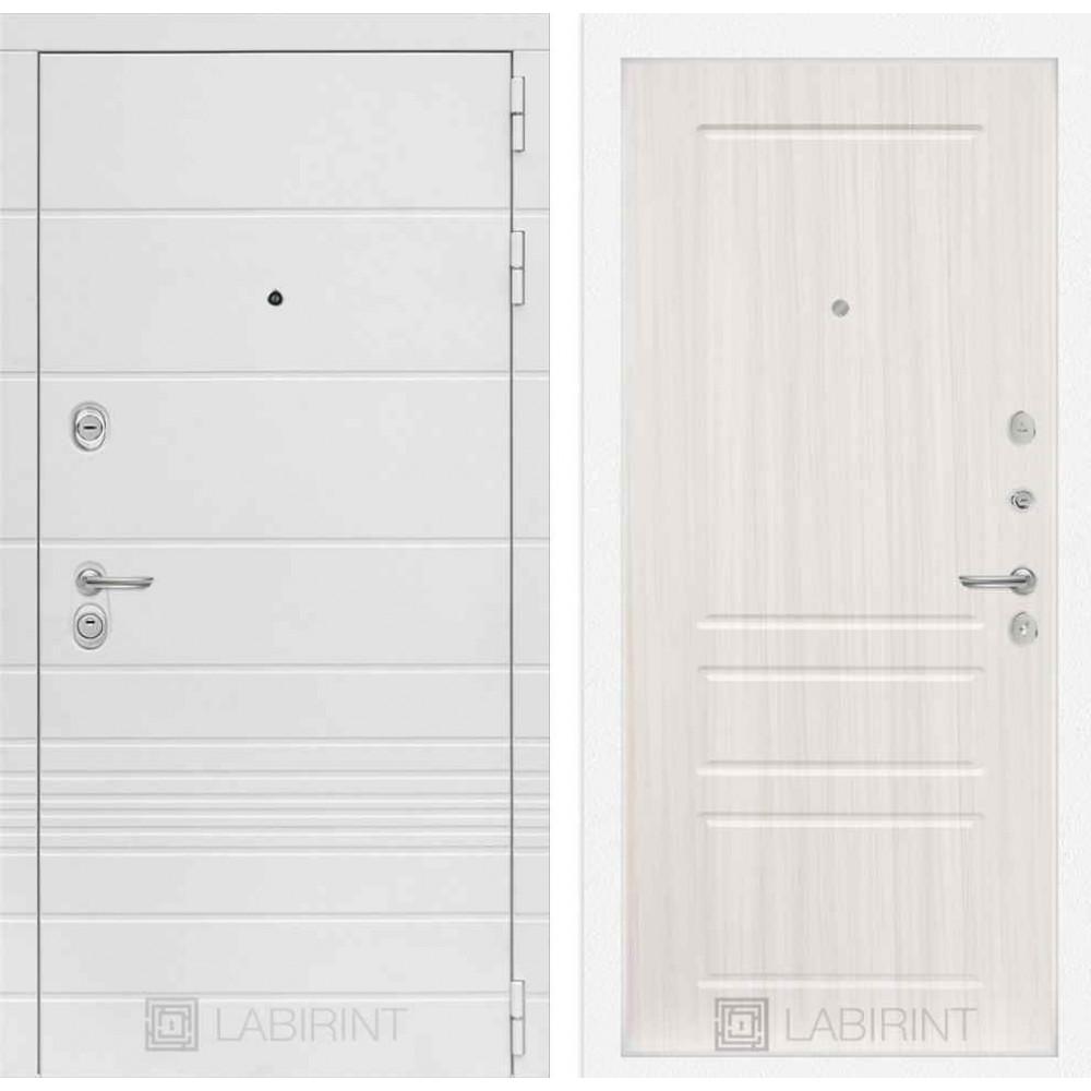 Входная дверь Лабиринт TRENDO 03 - Сандал белый ( утепленные)