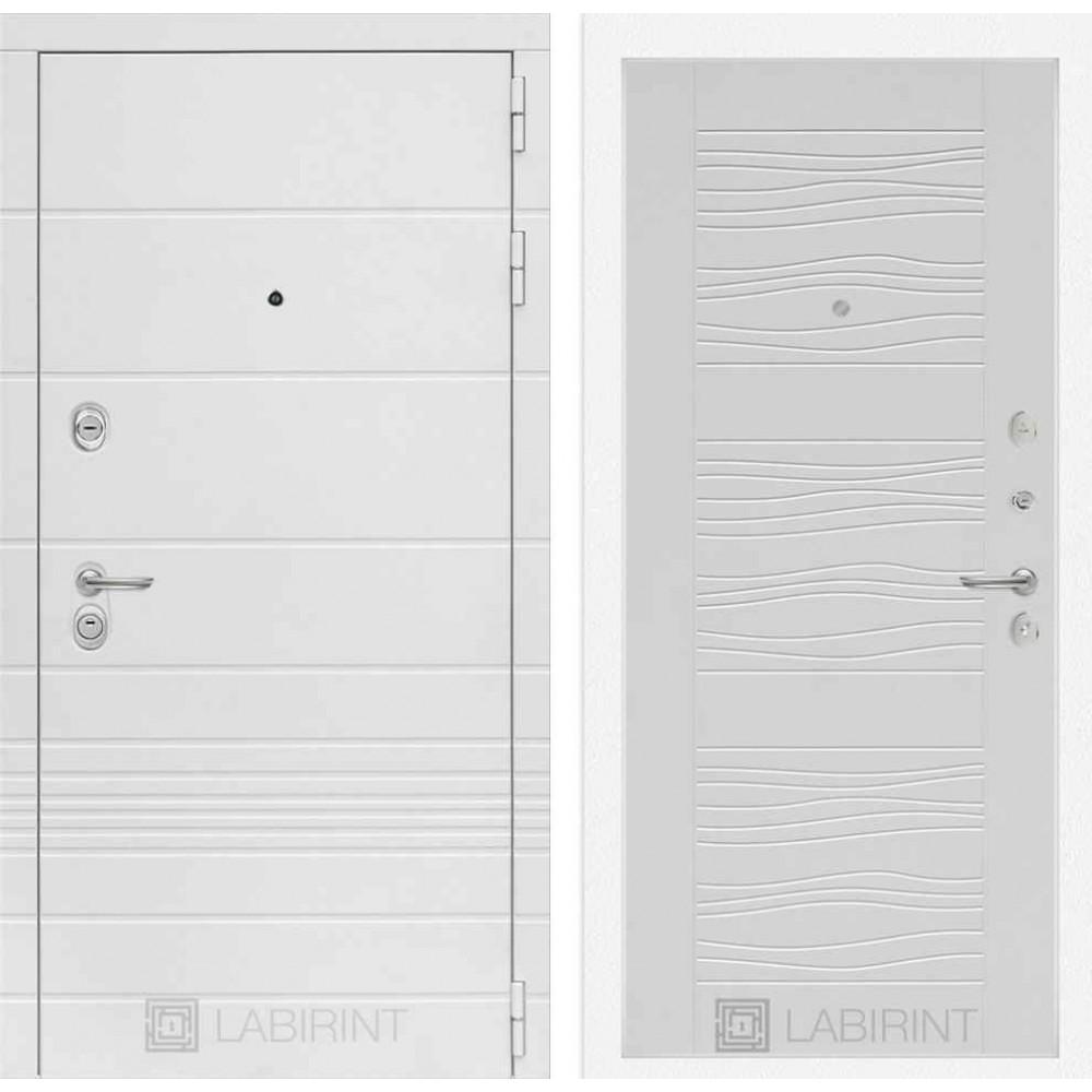 Входная дверь Лабиринт TRENDO  06 - Белое дерево (утепленные)