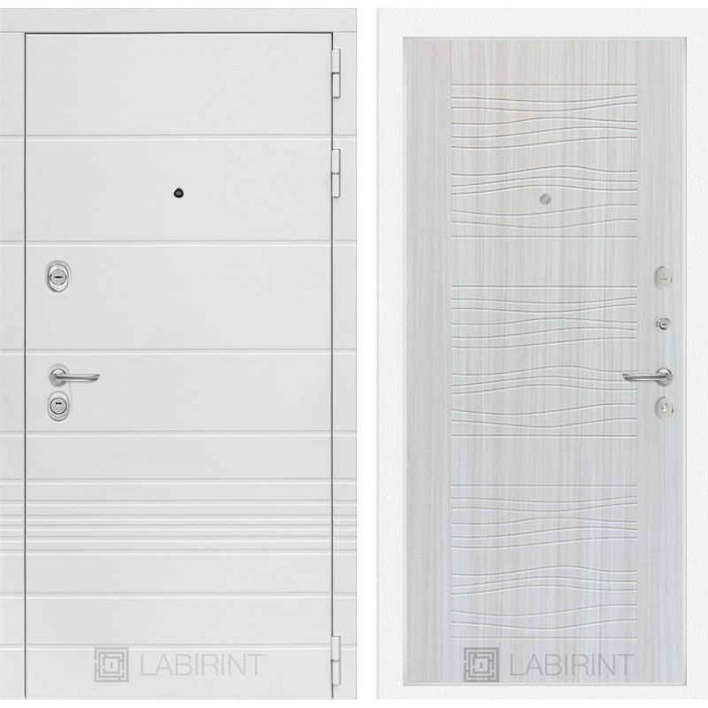 Входная дверь Лабиринт TRENDO 06 - Сандал белый (трехконтурные)