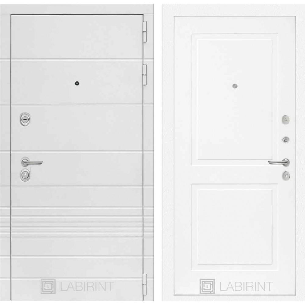 Входная дверь Лабиринт TRENDO 11 - Белый софт (с шумоизоляцией)
