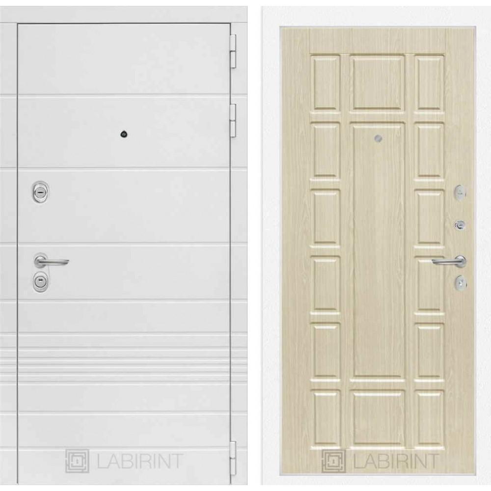 Входная дверь Лабиринт TRENDO 12 - Беленый дуб (трехконтурные)
