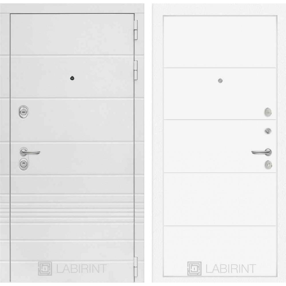 Входная дверь Лабиринт TRENDO 13 - Белый софт (трехконтурные)