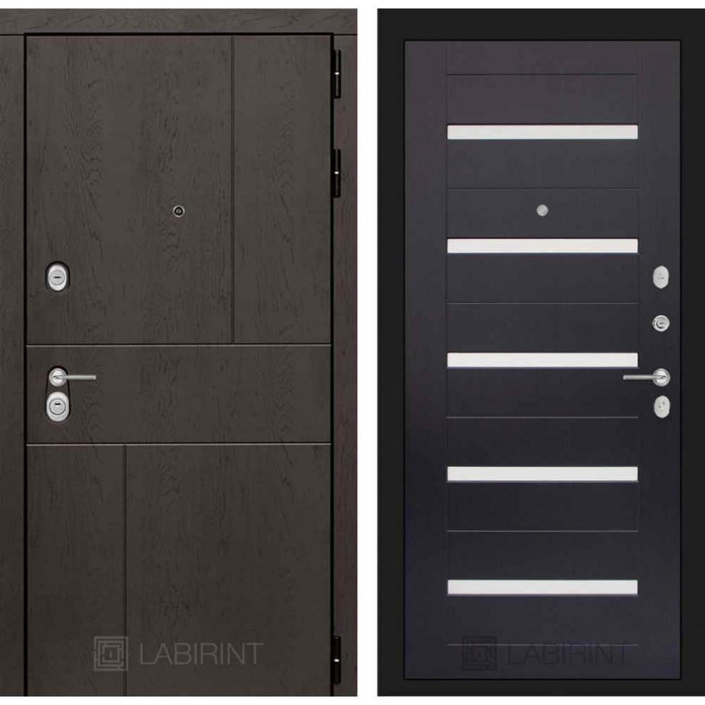 Входная дверь Лабиринт URBAN 01 - Венге, стекло белое (с шумоизоляцией)