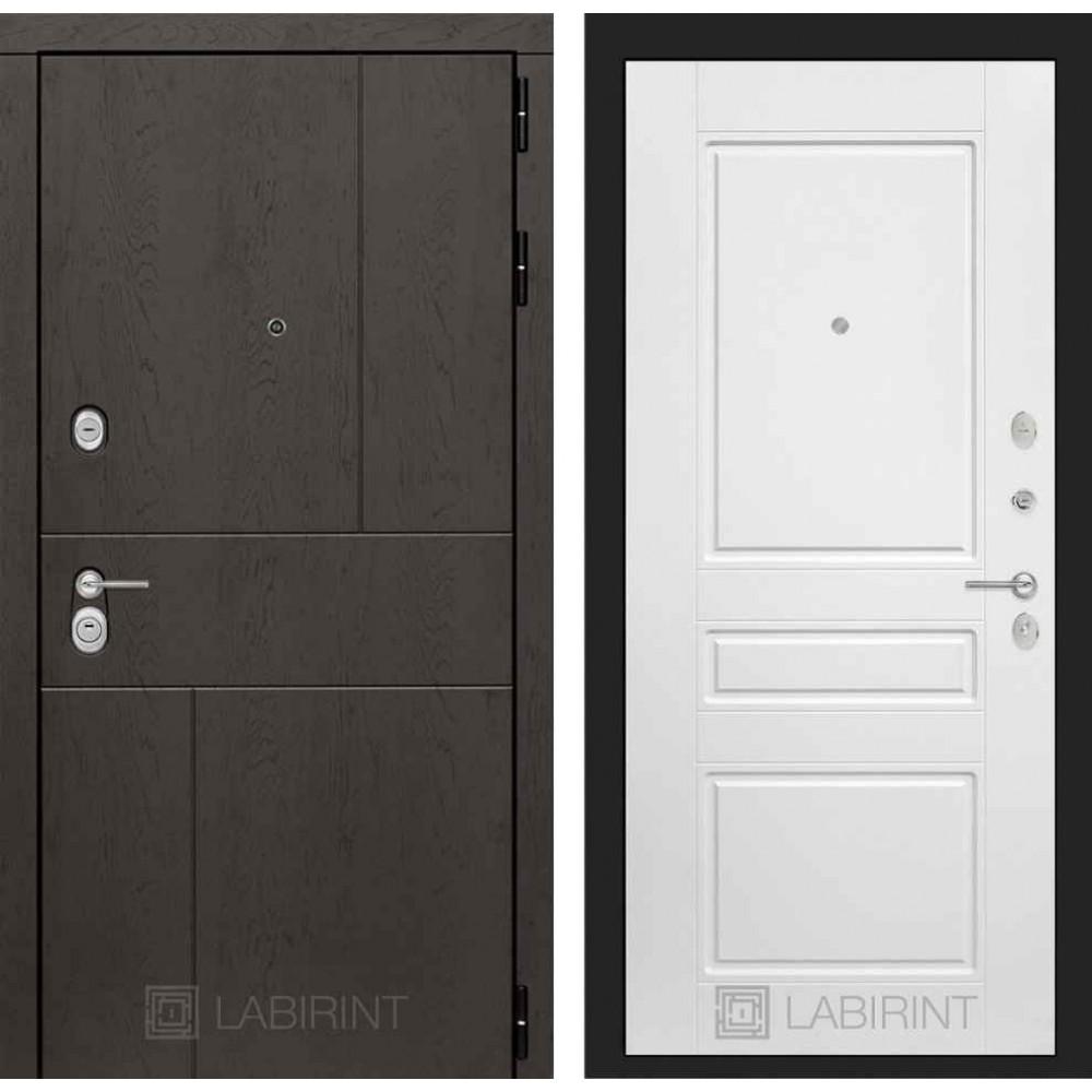 Входная дверь Лабиринт URBAN 03 - Белый софт (утепленные )