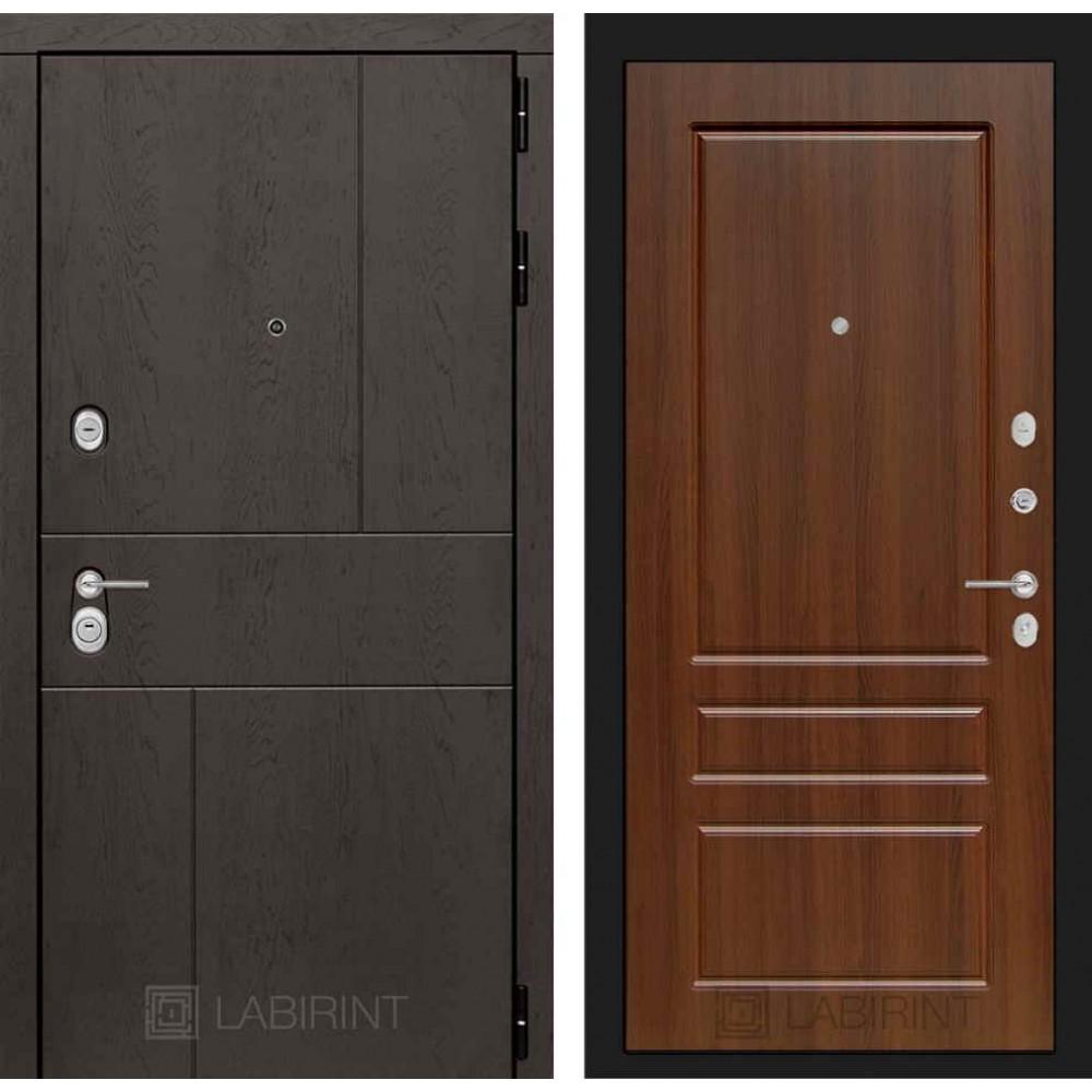 Входная дверь Лабиринт URBAN 03 - Орех бренди (утепленные )