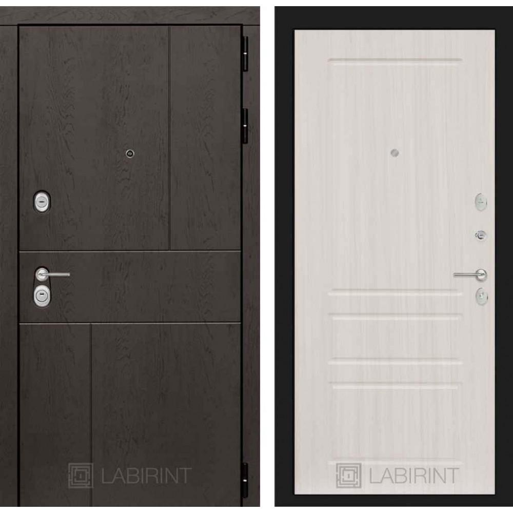 Входная дверь Лабиринт URBAN 03 - Сандал белый (с шумоизоляцией)