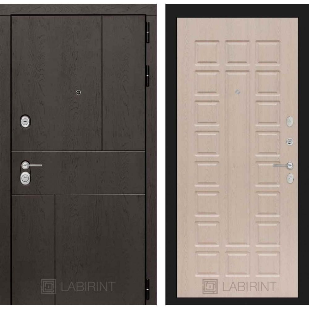 Входная дверь Лабиринт URBAN 04 - Беленый дуб (трехконтурные)