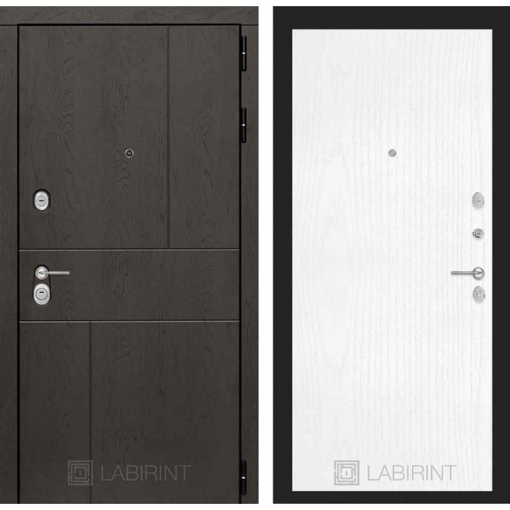 Входная дверь Лабиринт URBAN 07 - Белое дерево (с шумоизоляцией)