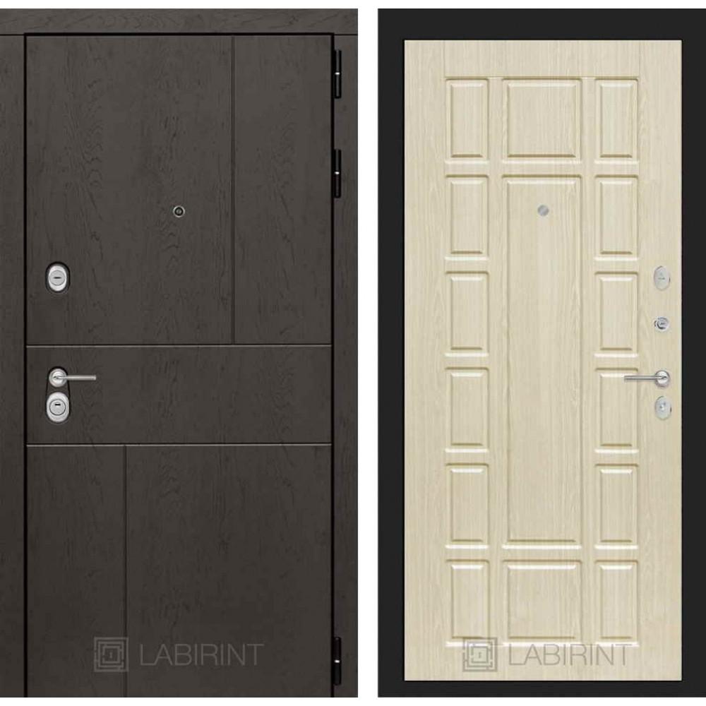 Входная дверь Лабиринт URBAN 12 - Беленый дуб (утепленные )