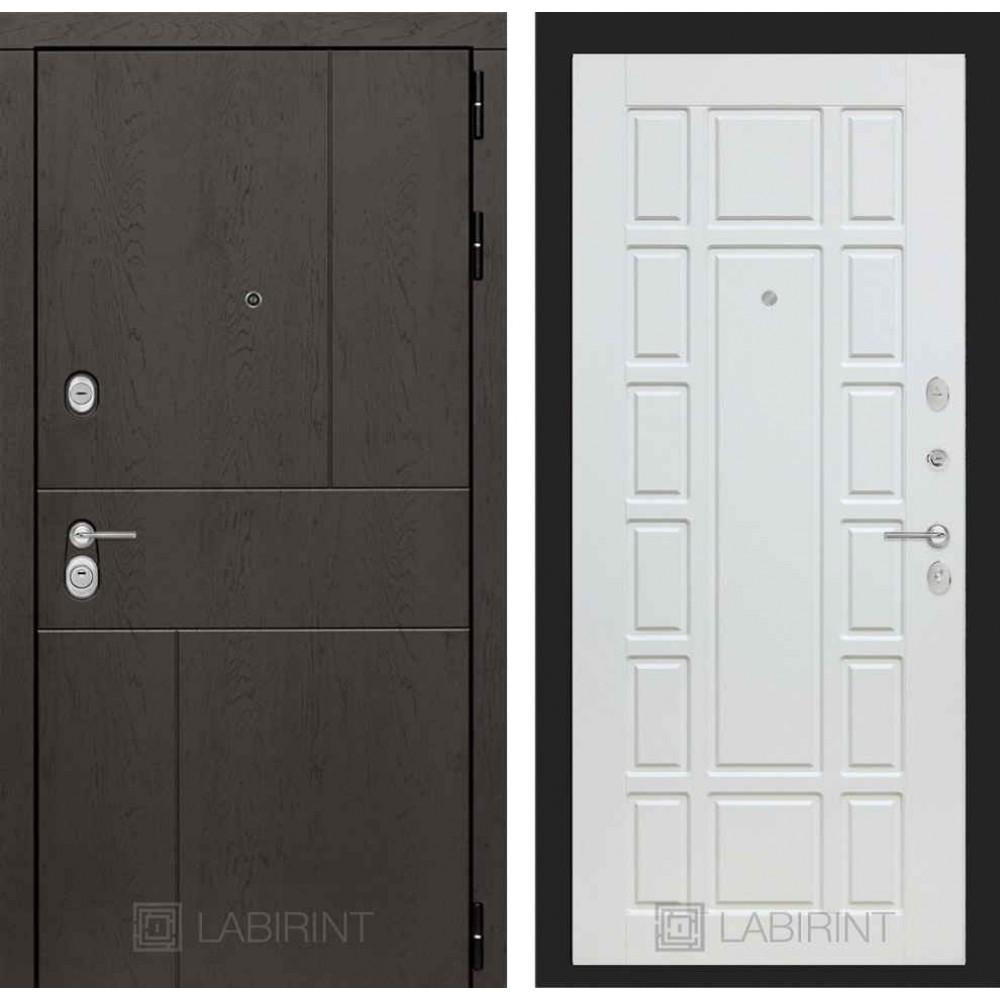 Входная дверь Лабиринт URBAN 12 - Белое дерево (утепленные )