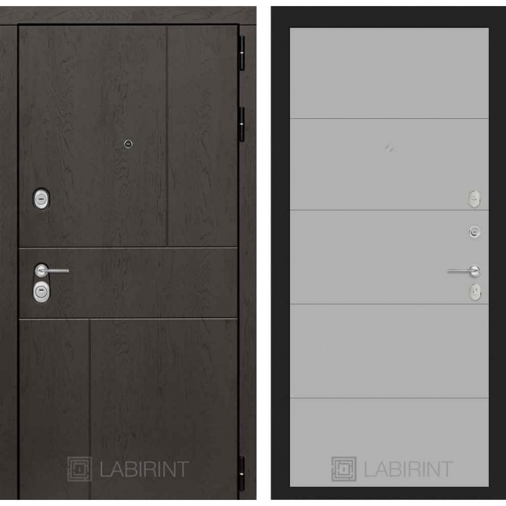 Входная дверь Лабиринт URBAN 13 - Грей софт (с шумоизоляцией)