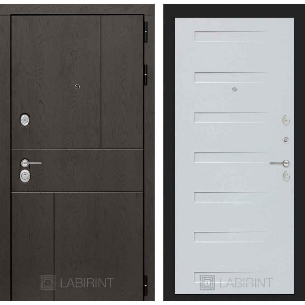 Входная дверь Лабиринт URBAN 14 - Дуб кантри белый горизонтальный (утепленные )