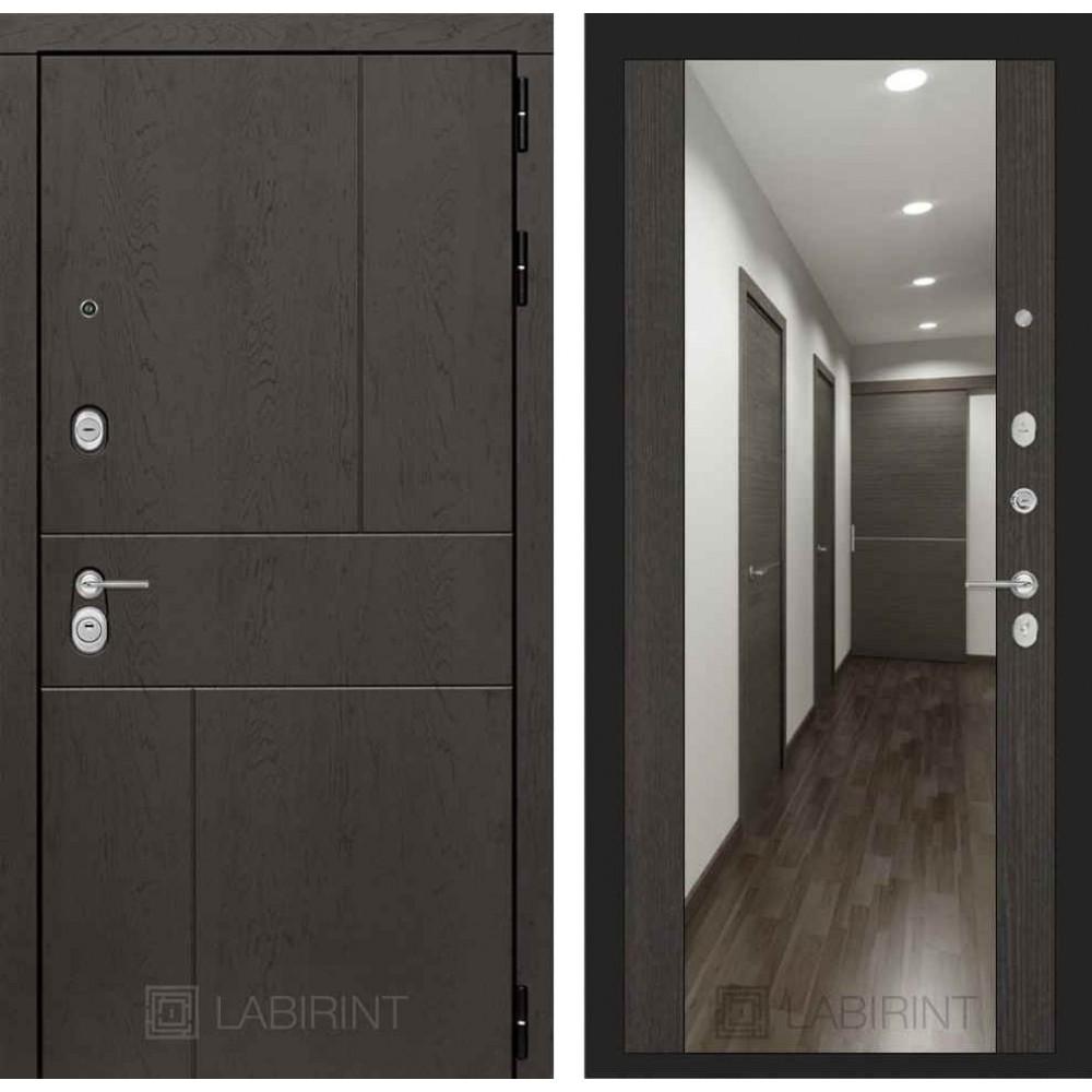 Входная дверь Лабиринт URBAN с Зеркалом Максимум - Венге (с шумоизоляцией)