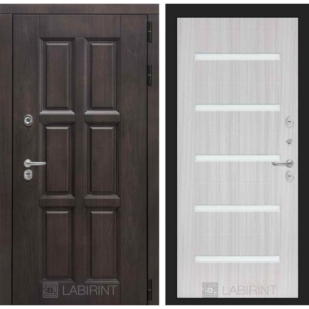 Входная дверь Лондон ТЕРМО 01 - Сандал белый, стекло белое
