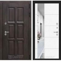 Входная дверь Лондон ТЕРМО с зеркалом 19 - Белый софт
