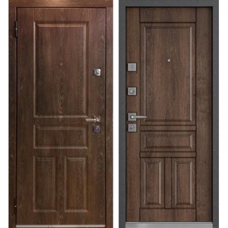 Входная дверь MASTINO MONTE Дуб шале морёный / Дуб шале морёный (сейфовые)