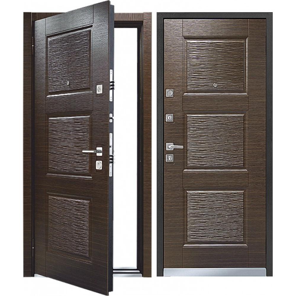 Входная дверь MASTINO MONTE (LINE 3) Темный венге / Темный (сейфовые)