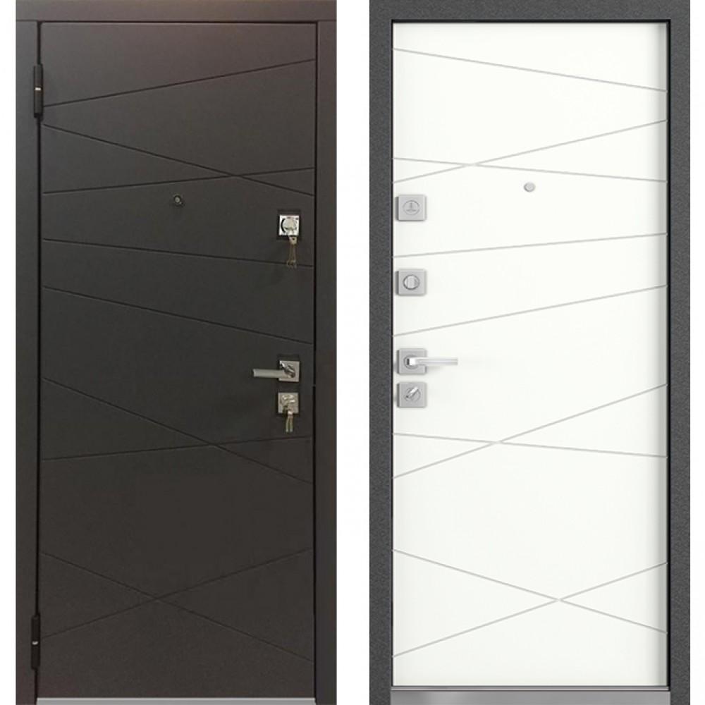 Входная дверь MASTINO MONTE Графит софт / Белый софт (сейфовые)