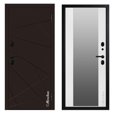 Входная дверь Металюкс Cтандарт 602/1 (с зеркалом)