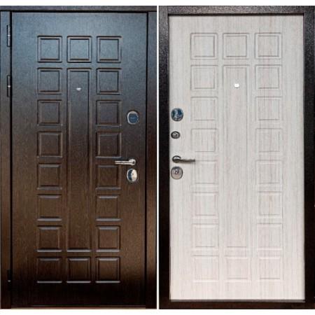 Металлическая Дверь Йошкар Ола Сенатор 3к венге / сандал белый