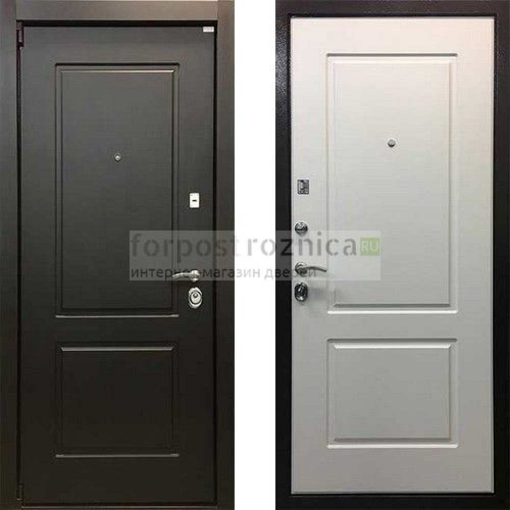 Входная дверь Ратибор Барьер 3К Белый Ясень (трехконтурные)