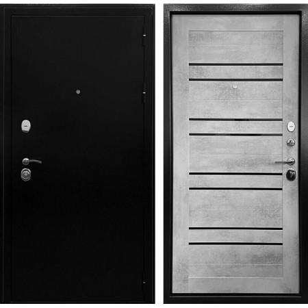 Дверь Ратибор Стандарт 3К СБ -29 Черное серебро / Бетон светлый