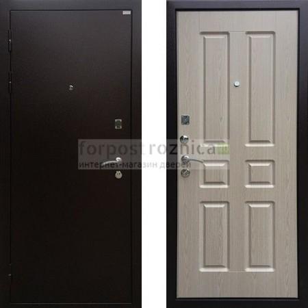 Входная дверь Ратибор Комфорт Беленый Дуб ( с шумоизоляцией)
