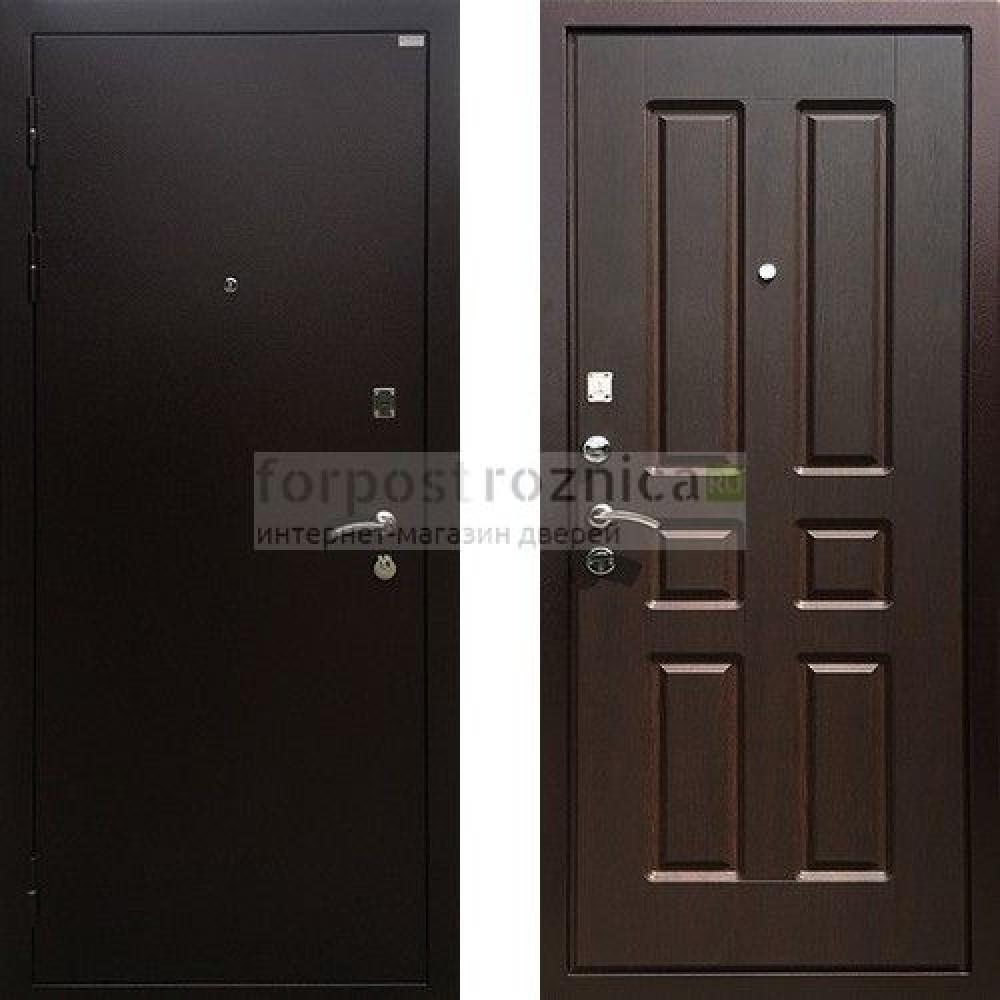 Входная дверь Ратибор Комфорт Орех Премиум (с шумоизоляцией)