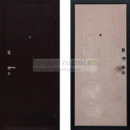 Входная дверь Ратибор Практик Беленый Дуб (антивандальные)